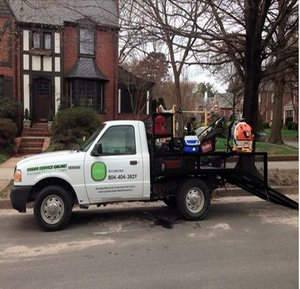 short pump lawn care truck